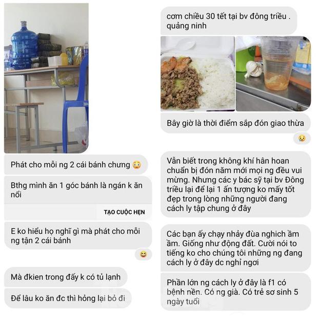 Vụ cắt xén bữa ăn ở Quảng Ninh: Những tin nhắn từ trong khu cách ly-3