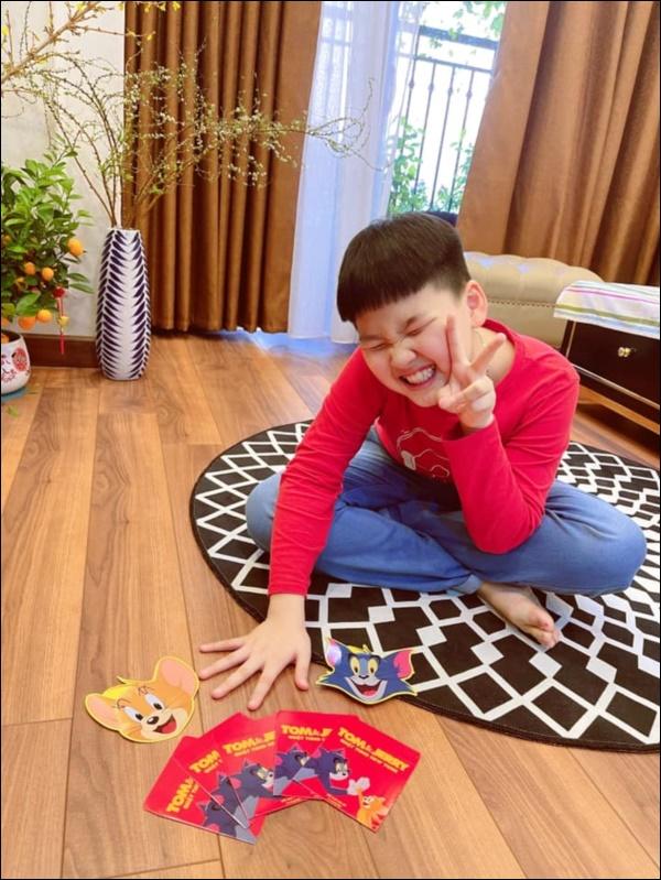 Con trai Bảo Thanh ra dáng làm anh lắm rồi, xung phong đập lợn lấy tiền lì xì cho mẹ đi sinh em bé-3