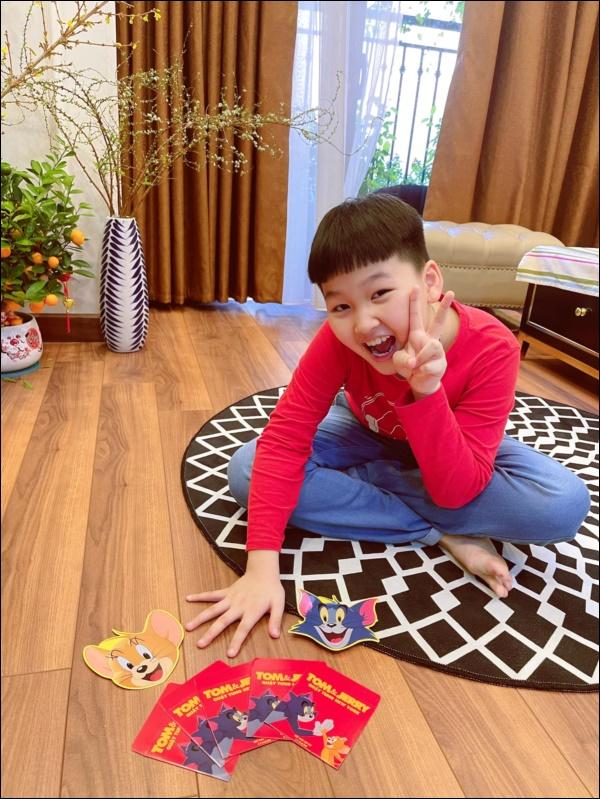 Con trai Bảo Thanh ra dáng làm anh lắm rồi, xung phong đập lợn lấy tiền lì xì cho mẹ đi sinh em bé-2