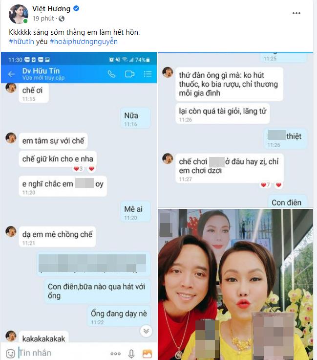 Việt Hương tố đàn em yêu chồng mình, lại còn thản nhiên nhắn tin bày tỏ tình cảm-1