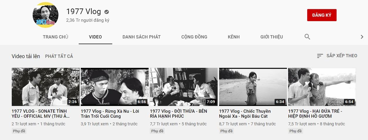 Bàn chuyện thu nhập của giới YouTuber, anh em 1977 Vlog thẳng thắn: Người ta mỗi tháng có vài trăm triệu, còn chúng tôi bỏ vốn vài ba trăm nghìn thì thử tính xem bài toán có cân!?-1