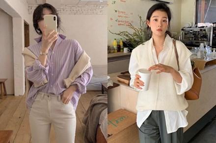 """Trời xuân ấm áp, diện sơ mi theo 5 công thức """"ruột"""" của gái Hàn là đảm bảo vừa xinh, vừa sang hết ý"""