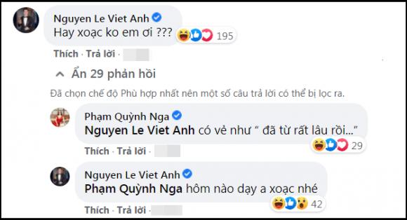 Quỳnh Nga đăng clip xoạc thử một cái, Việt Anh lại vào bình luận khiến nhiều người đỏ mặt-5