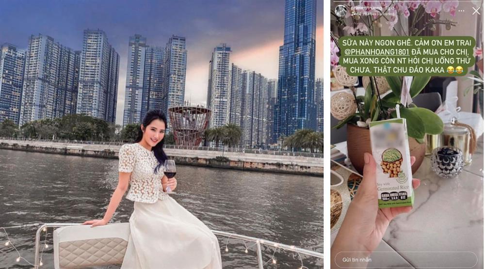 Về làm dâu chưa được bao lâu, Primmy Trương đã được cậu em chồng nhà đại gia Phan Thành chăm sóc tận tình bằng một món đồ cực nhỏ-1