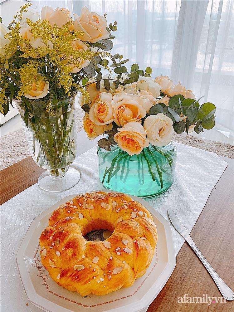 Căn bếp màu xanh yên bình, sang trọng với đủ thiết bị hiện đại của mẹ trẻ xinh đẹp Sài Thành-21