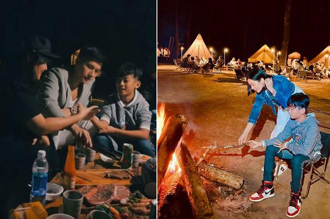 Lệ Quyên và Lâm Bảo Châu đi dã ngoại với con trai, chồng cũ cũng rủ tình tin đồn kém 27 tuổi lên Đà Lạt hẹn hò-4