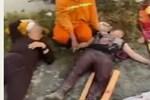 Clip: Xe tải đâm xe khách đi lễ chùa, nhiều người thương vong