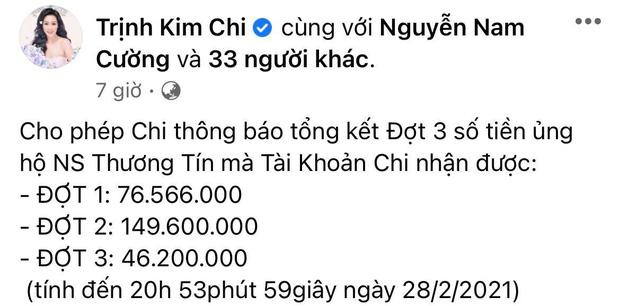 NS Trịnh Kim Chi công bố đã kêu gọi được hơn 270 triệu giúp đỡ NS Thương Tín, con gái vừa đến thăm bố ở bệnh viện-1