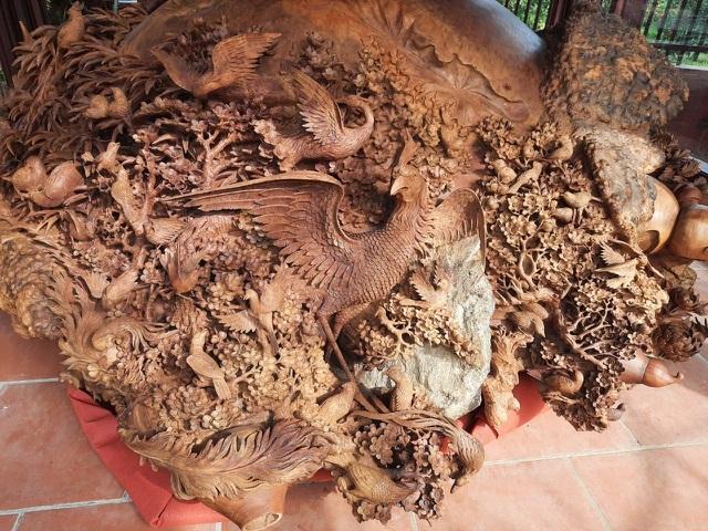 Choáng ngợp với bình hồ lô bằng gỗ, nặng 6 tấn độc nhất Việt Nam-5
