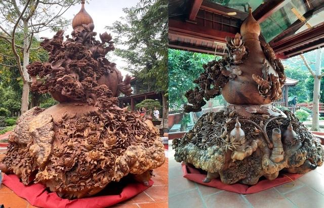 Choáng ngợp với bình hồ lô bằng gỗ, nặng 6 tấn độc nhất Việt Nam-9