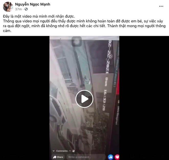 Một clip góc khác cho thấy Nguyễn Ngọc Mạnh đã vất vả và nỗ lực đến thế nào khi cố gắng cứu em bé-1