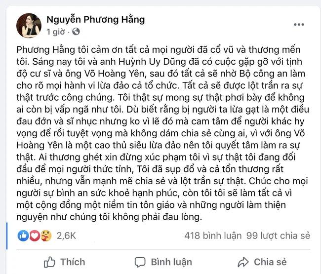 Vợ ông Dũng lò vôi tố cáo bị lương y Võ Hoàng Yên lừa đảo hàng trăm tỷ tiền cứu trợ, xây chùa-3