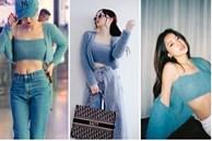 'Đụng hàng' set áo lông: Ngọc Trinh - Chi Pu khoe eo thon, Kaity hack dáng hiệu quả