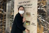 """Xuất hiện một công ty ở Hà Nội ngày nào đi làm cũng hỏi thăm nhân viên """"có vui hay không"""" bằng cách siêu ngọt ngào có 1-0-2!"""