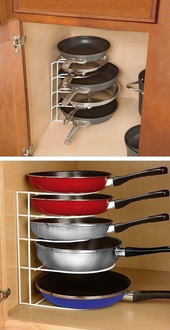 Trong nhà bếp, xoong nồi là thứ khó cất giữ nhất, nhưng nếu nắm bắt được hai điểm này, chúng sẽ được sắp xếp gọn gàng đến bất ngờ-5