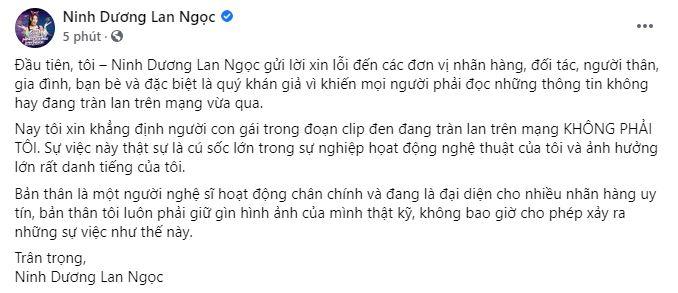 Ninh Dương Lan Ngọc chính thức lên tiếng trước nghi vấn bị phát tán clip nóng-3