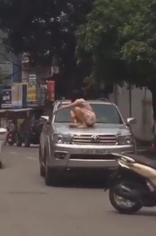 Người phụ nữ đùng đùng trèo lên nóc xe ô tô nhảy nhót, múa may nhưng hành động của tài xế lại gây tranh cãi dữ dội-2