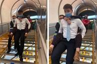 Nam tiếp viên hàng không cõng bà cụ xuống thang máy bay nhận được lời khen nhưng chỉ khiêm tốn bình luận một câu, dân mạng nhanh chóng 'bão like' loạt hình ảnh khoe body cực xịn của anh chàng