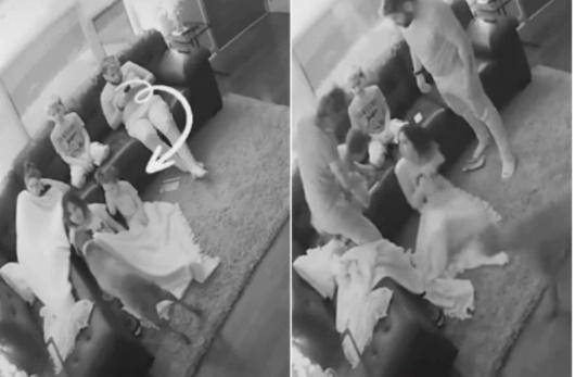 Cả nhà đang ngồi xem tivi bỗng nhiên con gái út phát ra tiếng động bất thường, bà mẹ làm ngay một việc cứu con đang ngàn cân treo sợi tóc-1