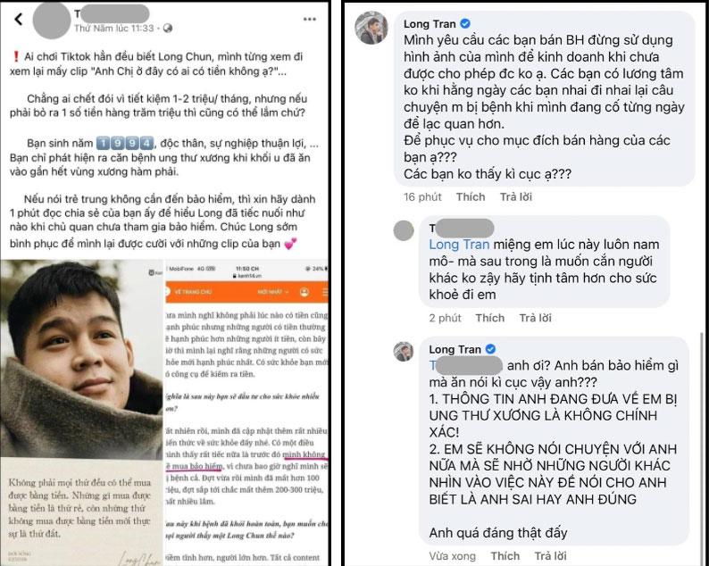 Long Chun bức xúc nhờ luật sư vào cuộc vụ người bán bảo hiểm dùng ảnh trái phép, dựng chuyện mình bị ung thư xương-2