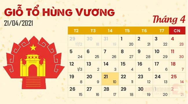 Giỗ tổ Hùng Vương năm 2021: Người lao động được nghỉ mấy ngày?-1