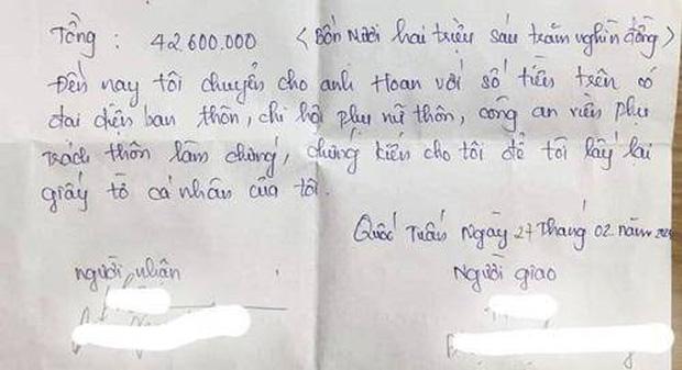 Vụ vợ bị chồng đòi 42 triệu tiền ăn và tiền khám sản trước khi ly hôn: Chính quyền địa phương lên tiếng-3