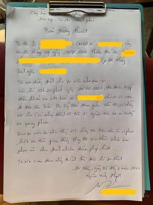 Clip dừng ô tô trên cầu Trần Thị Lý để tỏ tình lãng mạng với vợ gây sốt MXH, nam thanh niên bị phạt hành chính-3
