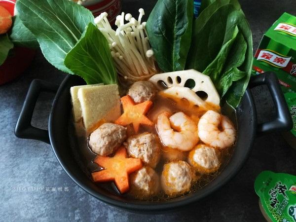 Cách nấu lẩu thịt viên rau củ, ngọt nước, thơm lừng-1