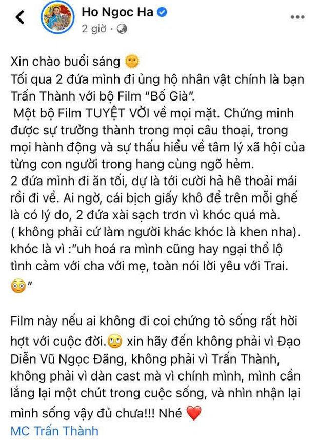 Chi Bảo thẳng thắn nói về câu review gây tranh cãi của Hà Hồ về phim Trấn Thành: Không biết là do viết/copy trùng lặp?-3