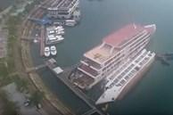 Hiện trường vụ du thuyền bị lật ở cảng Tuần Châu
