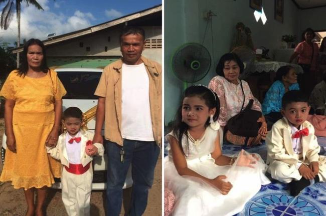 Cô dâu, chú rể nhí 5 tuổi được tổ chức lễ cưới linh đình xôn xao khắp vùng, sự thật về mối quan hệ của chúng là điều không tưởng-1