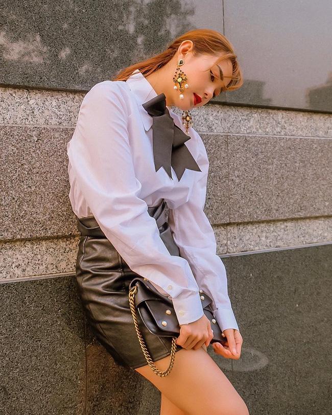 Minh Hằng hay diện chân váy ngắn hack dáng, hack tuổi nhưng có vài kiểu nàng 30+ học theo dễ thành cưa sừng làm nghé-5