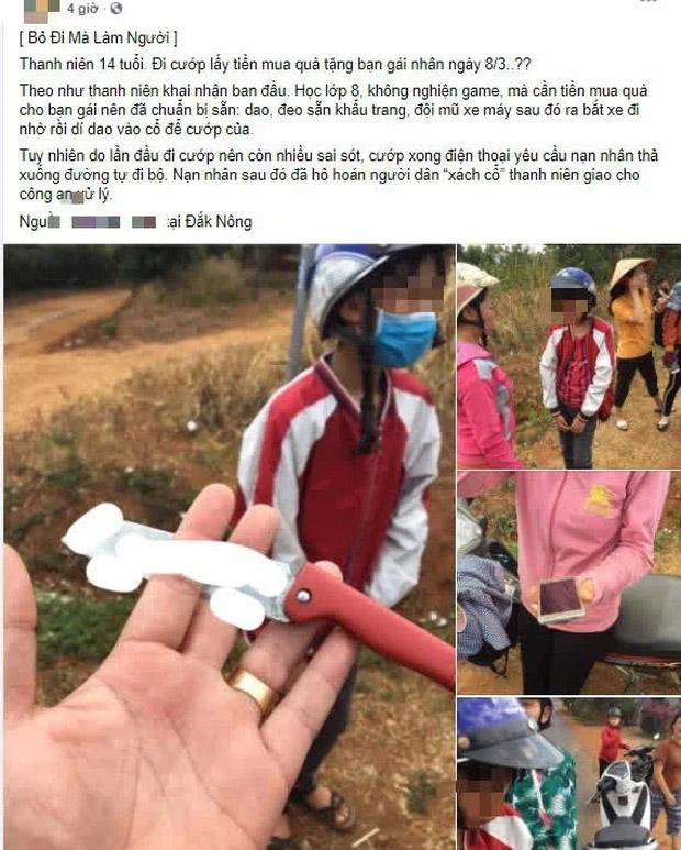 Thực hư thông tin thanh niên 14 tuổi đi cướp lấy tiền mua quà tặng bạn gái nhân ngày 8/3 xôn xao trên MXH-1