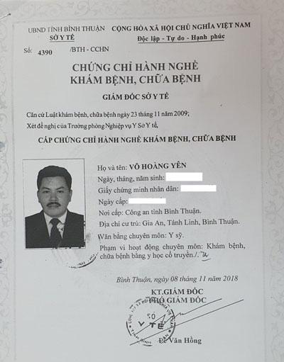 Tại sao thần y Võ Hoàng Yên không đủ điều kiện vẫn được đặc cách cấp giấy phép hoạt động Trung tâm phục hồi chức năng ở Hà Tĩnh?-6