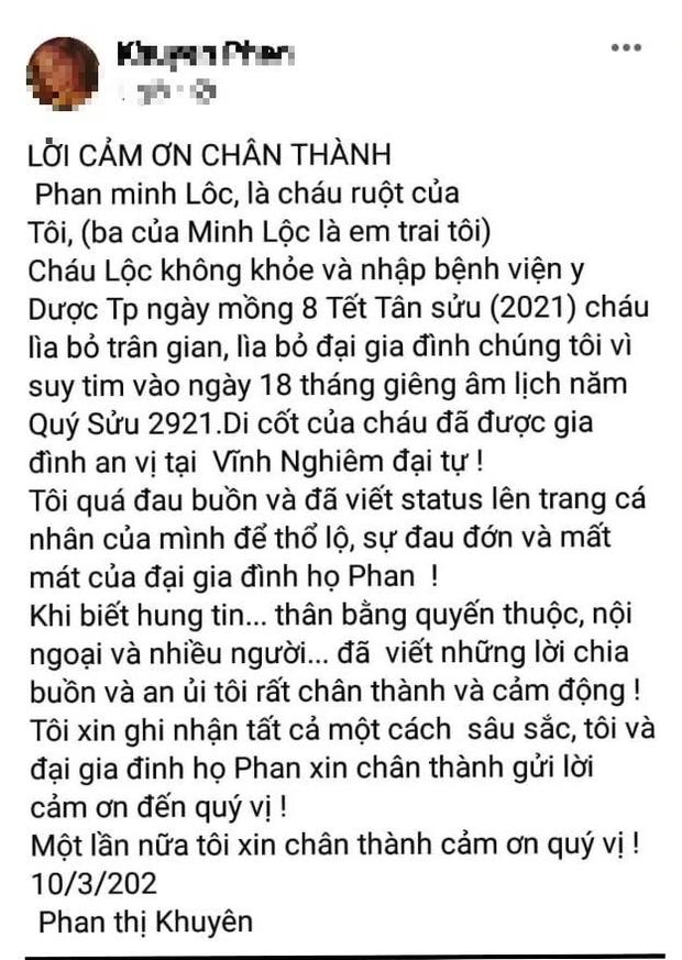 Nguyên nhân qua đời của Minh Lộc - Phù thuỷ trang điểm cho loạt sao nổi tiếng Vbiz-1