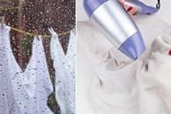 Mẹo giặt và phơi quần áo nhanh khô khi trời nồm