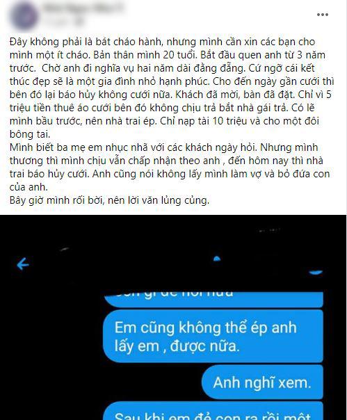10X bị nhà trai hủy hôn vì không trả 5 triệu tiền thuê váy cưới: Cả đêm khóc năn nỉ anh nghĩ cho con-1