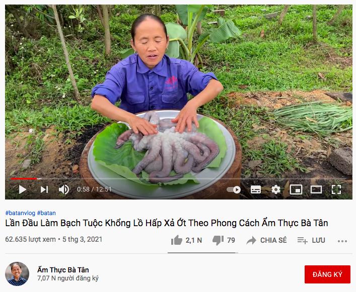 Bà Tân Vlog lại mở kênh mới, vừa nhìn qua dân mạng đã nghĩ ngay đến Ẩm Thực Mẹ Làm!-2