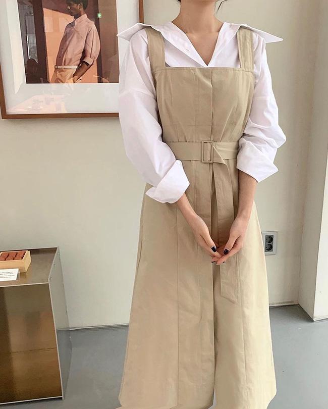 12 cách mặc váy hai dây + áo dài tay hợp mùa Xuân, chị em áp dụng đảm bảo trẻ đẹp mọi lúc mọi nơi-4