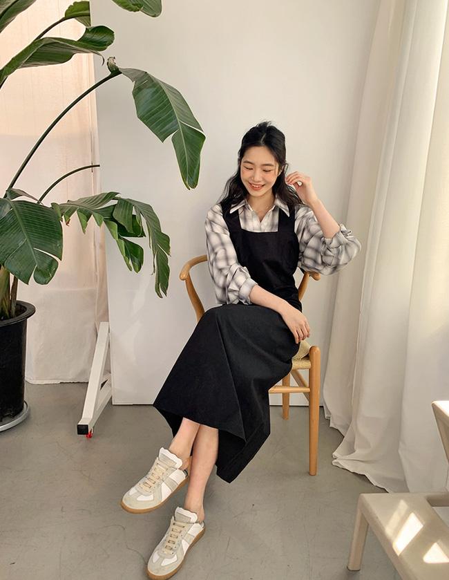 12 cách mặc váy hai dây + áo dài tay hợp mùa Xuân, chị em áp dụng đảm bảo trẻ đẹp mọi lúc mọi nơi-7