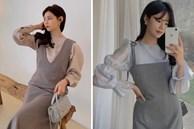 12 cách mặc váy hai dây + áo dài tay hợp mùa Xuân, chị em áp dụng đảm bảo trẻ đẹp mọi lúc mọi nơi