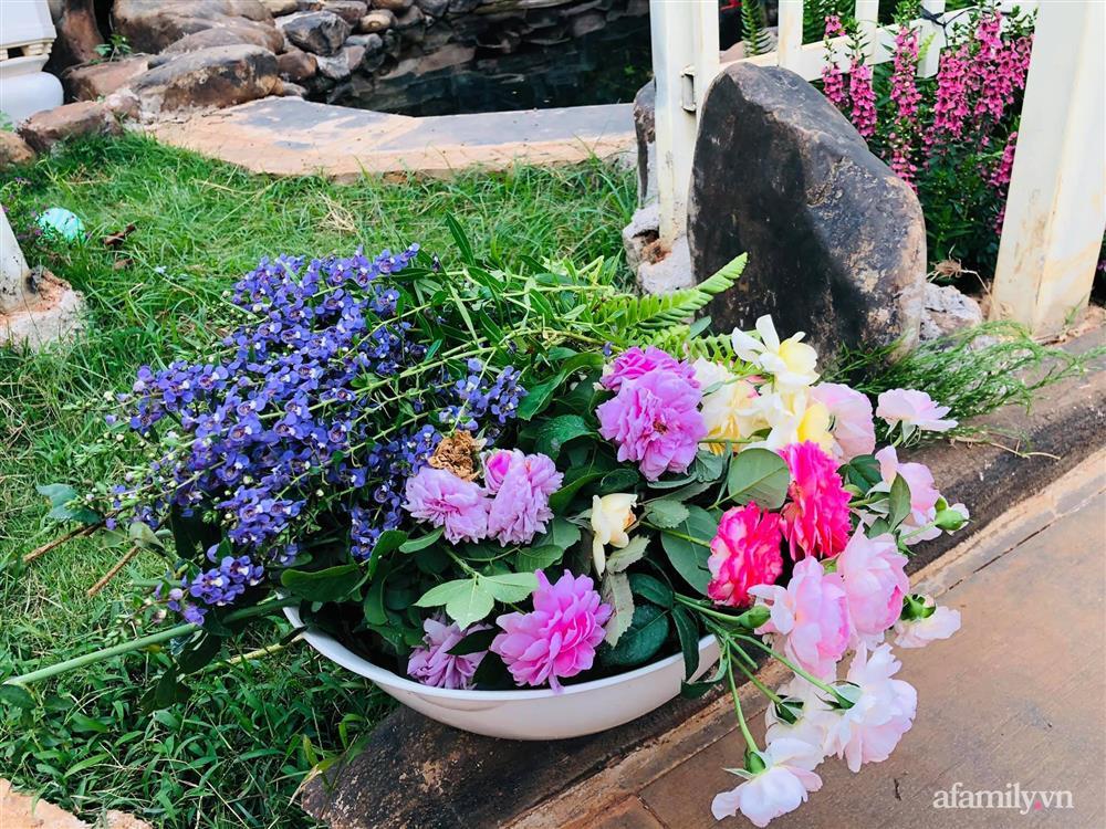 Bận rộn chăm sóc 3 con, bà mẹ đảm vẫn một tay thiết kế khu vườn đầy hoa đẹp như mơ ở Đắk Nông-13