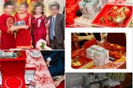 Đám cưới 'khủng' ở An Giang: Hơn 2 tỷ quà cưới, của hồi môn gồm tiền, vàng, ngoại tệ, kim cương chất đầy bàn khiến MXH 'xỉu lên xỉu xuống'