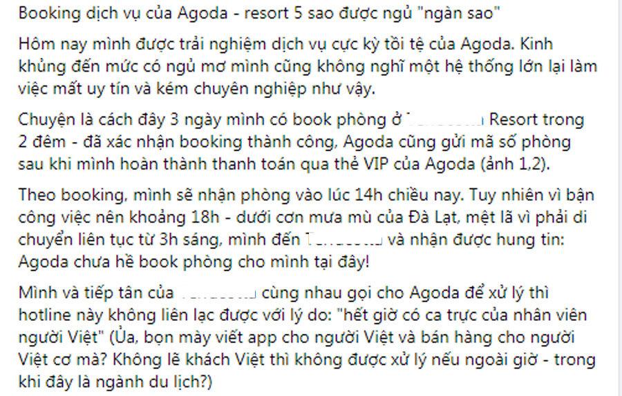 Đặt phòng qua Agoda, giữa đêm đứng đường vì bị hủy vào giờ chót-1