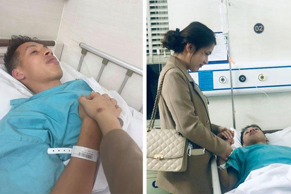 Vợ Hùng Dũng mới ngã xe tuần trước, chưa kịp khỏi vội vào TP.HCM chăm chồng chấn thương nặng-1