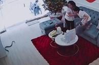 Thấy rắn bò vào nhà, 2 nữ nhân viên vội nhảy lên ghế tránh né