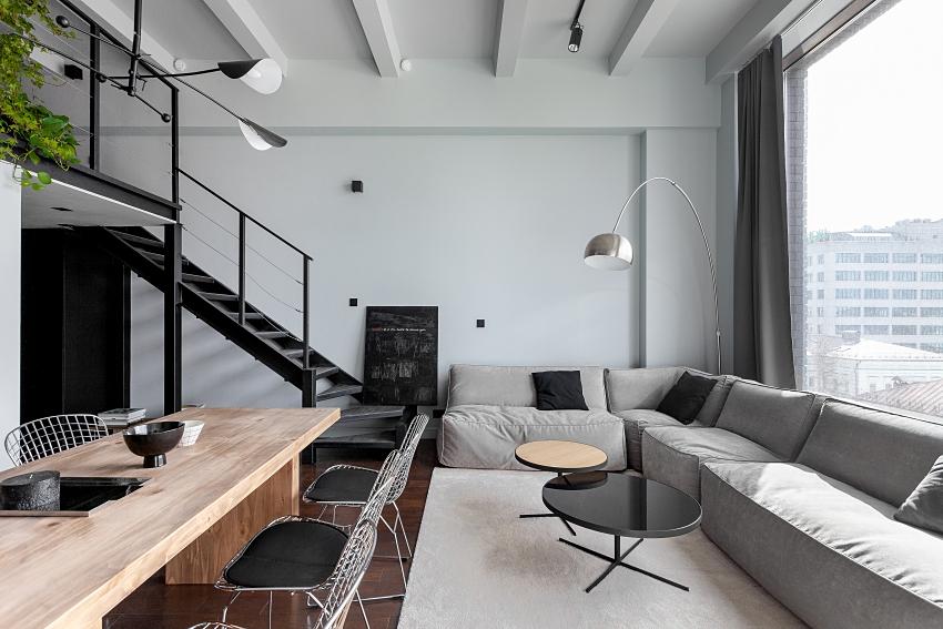Ngôi nhà màu đen trắng thiết kế gác lửng hiện đại, chỉ rộng 15m2 nhưng ánh sáng tự nhiên vẫn tràn ngập không gian-3