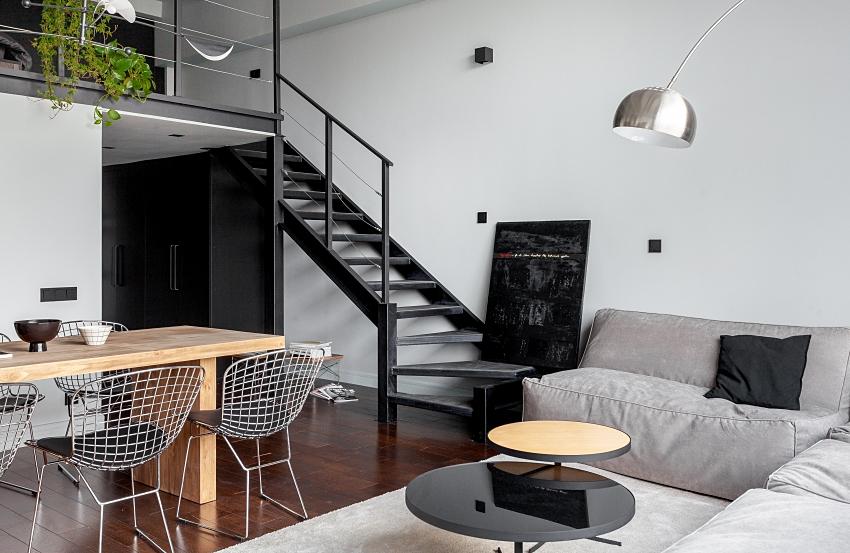 Ngôi nhà màu đen trắng thiết kế gác lửng hiện đại, chỉ rộng 15m2 nhưng ánh sáng tự nhiên vẫn tràn ngập không gian-6
