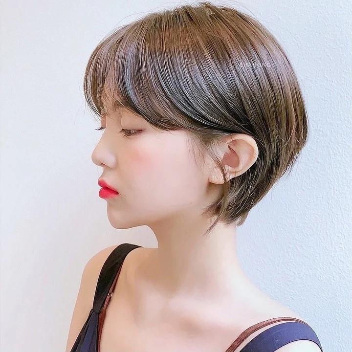 Nàng mặt tròn muốn cắt tóc ngắn thì phải chú ý đến điểm này-1