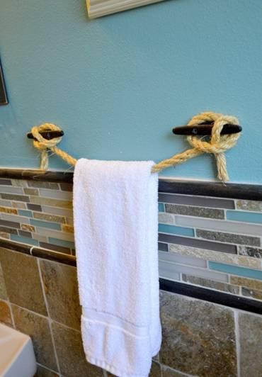 Ý tưởng thiết kế phòng tắm thân thiện với môi trường:Thảm lót chân bằng đá haygiá đỡ khăn bằng dây cũng không độc đáo bằng việc lắp thêm lò sưởi-9